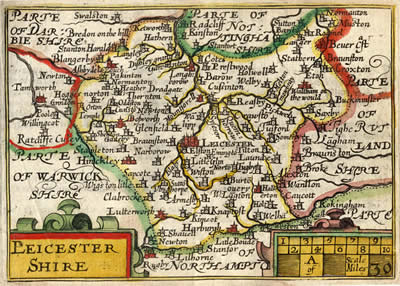 Leicestershire Uk Map.My Leicestershire History University Of Leicester